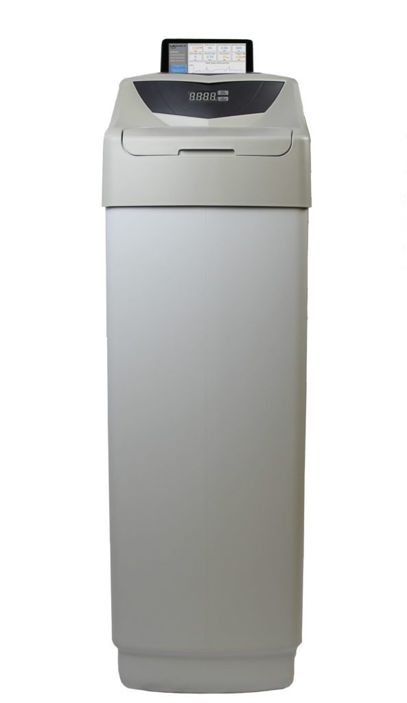 All components of a clearion cabinet water softener